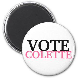 VOTE COLETTE 6 CM ROUND MAGNET