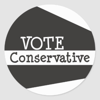 VOTE Conservative Round Stickers