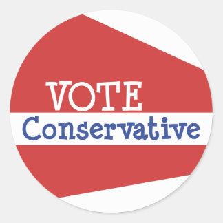 VOTE Conservative Sticker