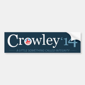 Vote Crowley Bumper Sticker