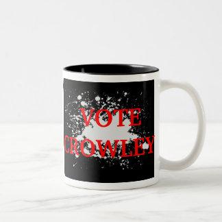 Vote Crowley Two-Tone Mug