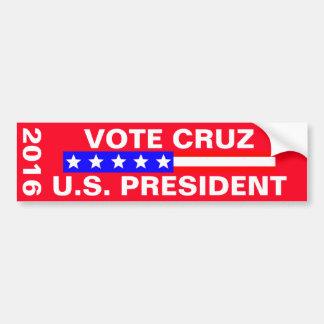 Vote Cruz 2016 Presidential Election Bumper Sticker