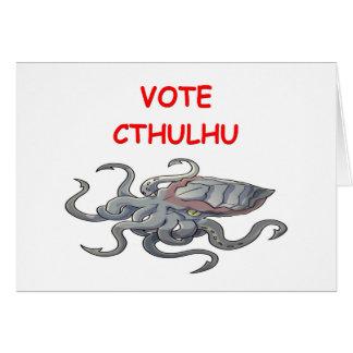 vote cthulhu greeting card