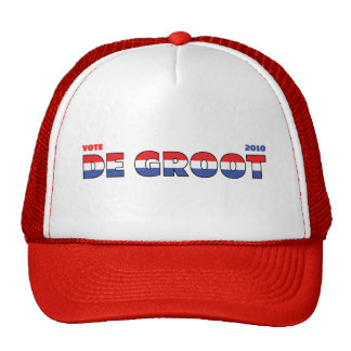 Vote De Groot 2010 Elections Red White and Blue Cap