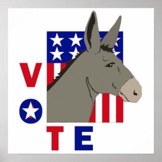 VOTE DEMOCRAT DONKEY Poster