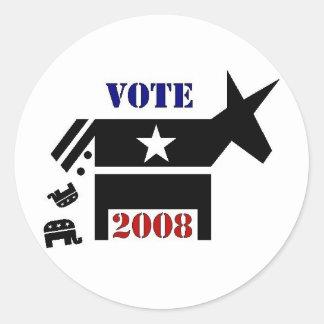 VOTE DEMOCRAT IN 2008 STICKERS