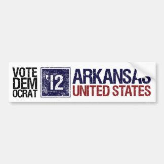 Vote Democrat in 2012 – Vintage Arkansas Bumper Sticker