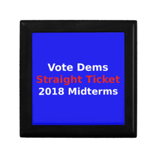 Vote Democrat In 2018 Midterm Elections Gift Box