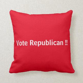 Vote Democrat !!  Vote Rebulican !! Throw Cushion