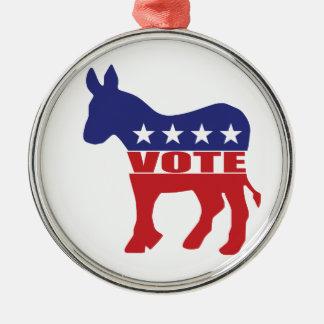 Vote Democratic Party Ornaments