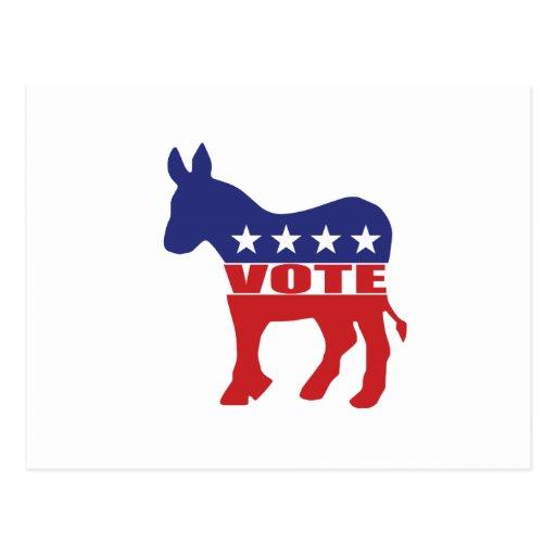 Vote Democratic Party Postcards