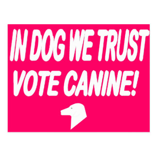Vote Dog with White Text Postcard