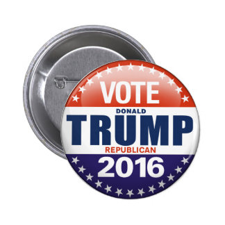 Vote Donald Trump for President 2016 6 Cm Round Badge