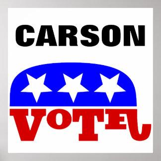 Vote Dr. Ben Carson  Republican Elephant Poster
