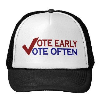Vote Early Vote Often Hats