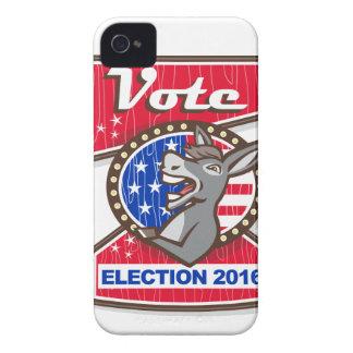 Vote Election 2016 Democrat Donkey Mascot Cartoon iPhone 4 Cases