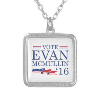 Vote Evan McMullin 2016 Silver Plated Necklace