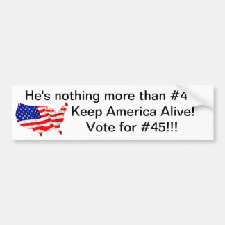 Vote for #45 bumper sticker
