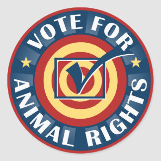 Vote for Animal Rights Stickers