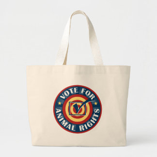 Vote for Animal Rights Jumbo Tote Bag