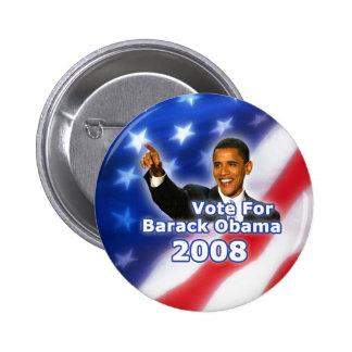 Vote for Barack Obama Button