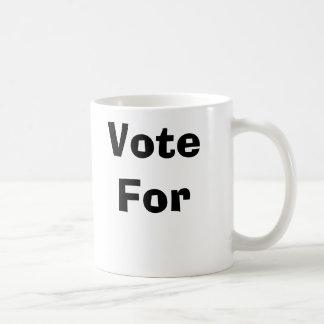 Vote For Basic White Mug