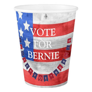 Vote for Bernie Sanders Democrat American Flag