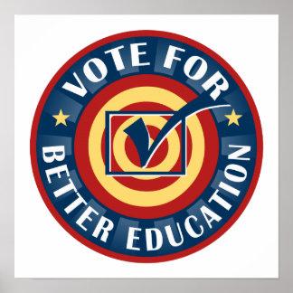 Vote For Better Education Poster