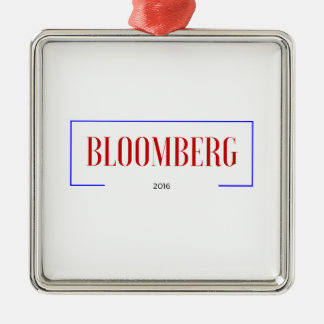 Vote for Bloomberg in 2016 Silver-Colored Square Decoration