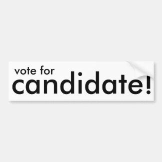 vote for candidate! generic sticker