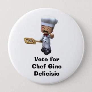Vote for Chef Gino pin