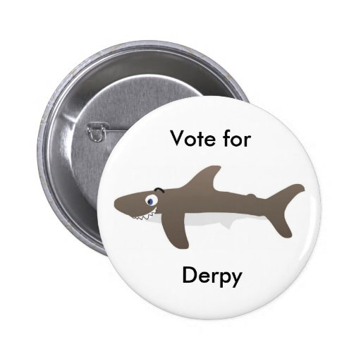 Vote for Derpy Pinback Button