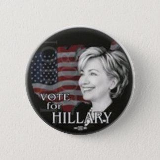 vote for hillary 6 cm round badge