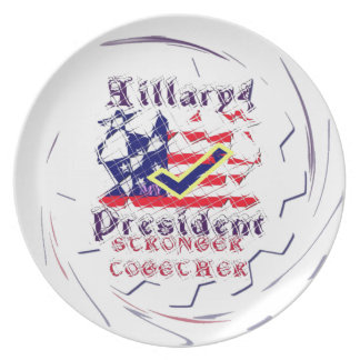 Vote for Hillary USA Stronger Together  My Preside Party Plates