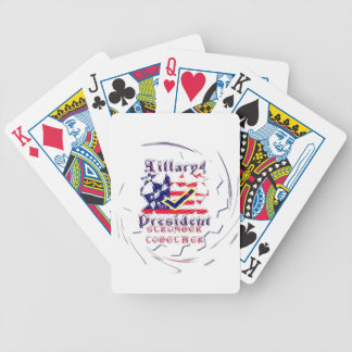 Vote for Hillary USA Stronger Together  My Preside Poker Deck