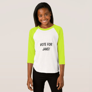 Vote for Jake kid girl shirt
