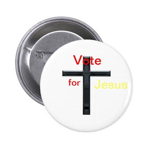 Vote for jesus pins
