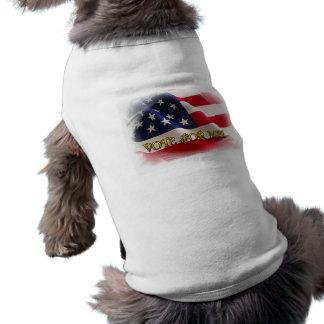 Vote for me sleeveless dog shirt