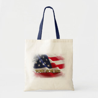 Vote for me budget tote bag