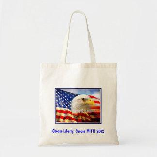 Vote for Mitt  Liberty Tote Bag