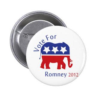 Vote for Mitt Romney 2012 Pinback Buttons