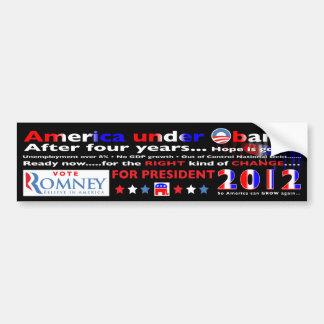 Vote for Mitt Romney for President in 2012 Car Bumper Sticker