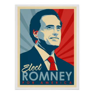 Vote For Mitt Romney - He's Not an Obama Commie! Posters
