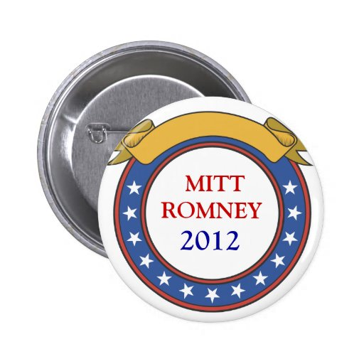 VOTE FOR MITT ROMNEY   POLITICAL BUTTON