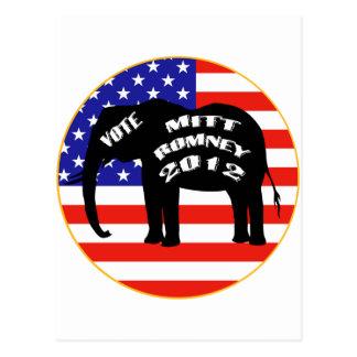 Vote For Mitt Romney Postcard