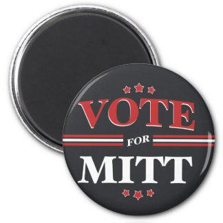 Vote For Mitt Romney Round (Black) Fridge Magnet