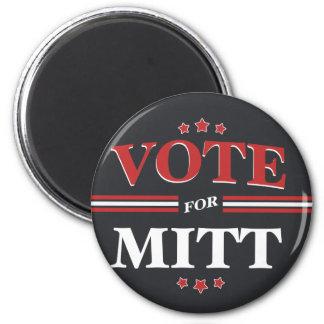 Vote For Mitt Romney Round (Black) Refrigerator Magnets