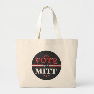 Vote For Mitt Romney Round (Black) Canvas Bag