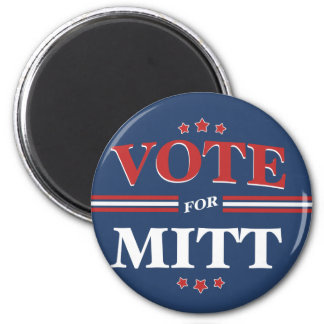 Vote For Mitt Romney Round (Blue) Refrigerator Magnet