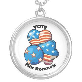 Vote for Mitt Romney Round Pendant Necklace